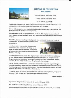 Photo cpte rendu prevention routiere du 23 au 26.01.2018
