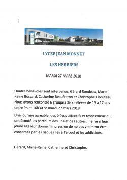 Lycée Jean Monnet 27.03.2018