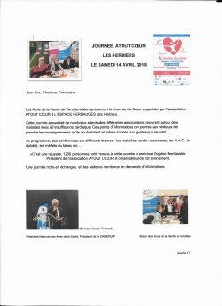 Journée du Coeur 14 avril 2018 aux Herbiers