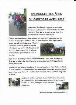 Randonnée des Anes 28.04.2018