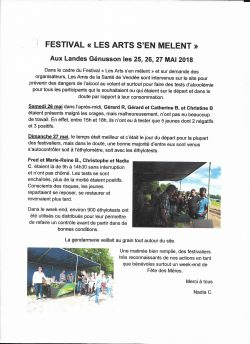 Les Arts S'en Melent 25.26.27 mai 2018