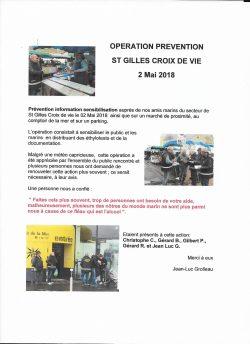St Gilles Croix de Vie 2 mai 2018