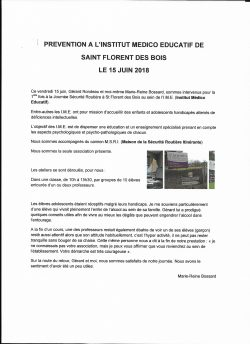 prevention i.m.e. st Florent des bois 15.06.2018