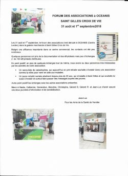 Forum Associations St Gilles 31.08 et 1er.09.2018