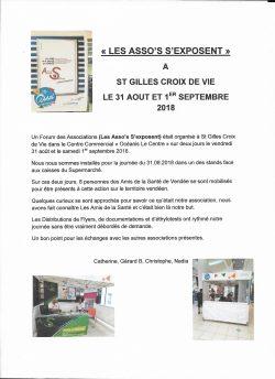Les Asso's S'exposent 31.08 et 1er.09.2018
