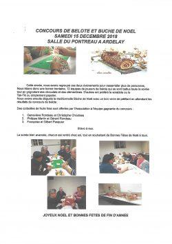 concours de belote et buche de noel 15.12.18