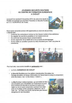 journees securite routiere eurespace 8 et 9 11.18