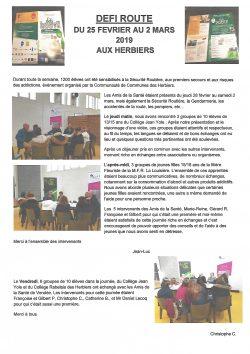 DEFI ROUTE Les Herbiers 28.02 au 2.03.2019(1)