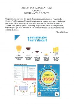 FORUM DES ASSOCIATIONS FONTENAY LE COMTE 7.09.2019