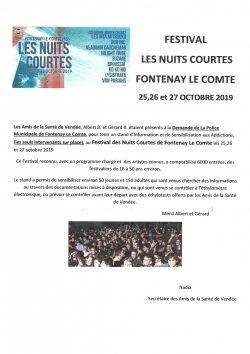 Festival Nuits Courtes 26.10.2019