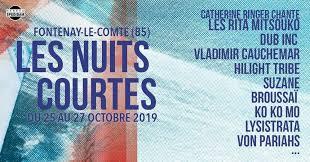 FESTIVAL DES NUITS COURTES 26.10.2019