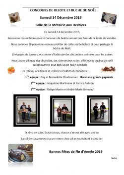 Image Concours de belote et Buche de noël 14.12.2019