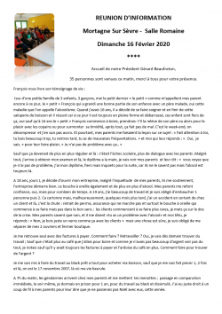 1. Mortagne Sur Sèvre 16.02.2020